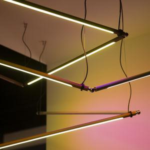 luminaire suspendu / à LED / linéaire / en aluminium anodisé