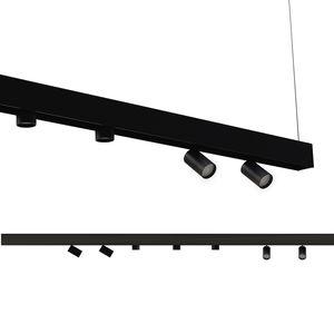 éclairage sur rail à LED / rond / en acier / en aluminium peint
