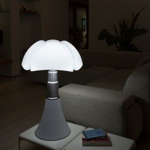 lampe de table / contemporaine / en inox / en aluminium laqué