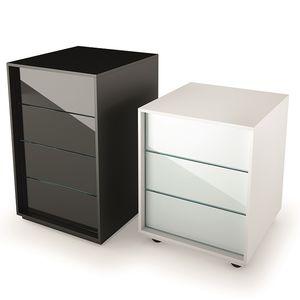 caisson de bureau en bois / en verre / à 3 tiroirs / à 4 tiroirs