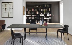 table contemporaine / en métal peint / avec piètement en métal peint / rectangulaire