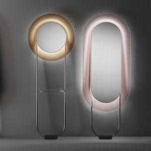 psyché / lumineux (LED) / contemporain / rond