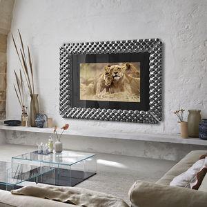 miroir TV mural