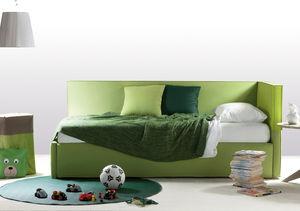 canapé lit / contemporain / en cuir / en tissu