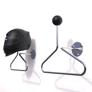 support de casque en acier inoxydable / en thermoplastique / mural