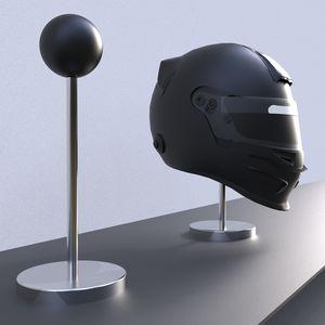 support de casque en acier inoxydable / en thermoplastique / à poser