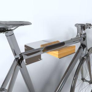 range-vélo mural / en acier inoxydable / en bois / professionnel