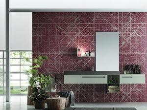 applique murale contemporaine / de salle de bain / en métal / linéaire