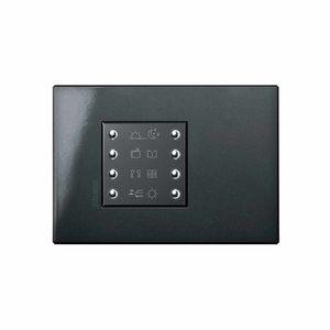 interrupteur pour volet roulant / pour installation domotique / bouton poussoir / encastré