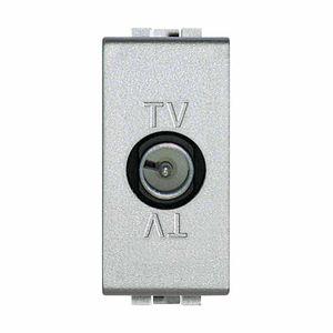 prise TV / murale / en métal / contemporaine
