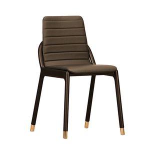 chaise contemporaine / tapissée / en bois massif / en frêne