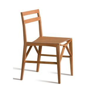 chaise contemporaine / en frêne / contreplaqué / en cerisier