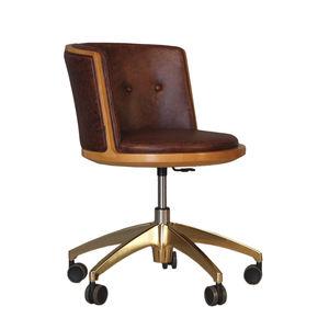 chaise contemporaine / pivotante / piètement étoile / à roulettes