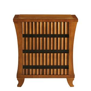 table de chevet de style Biedermeier / en cerisier / en ébène / avec piètement en cerisier