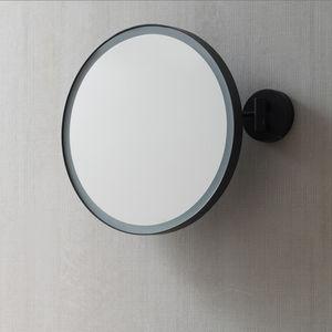 miroir de salle de bain mural / lumineux / basculant / contemporain