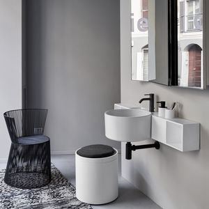 vasque suspendue / ronde / en céramique / contemporaine