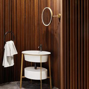 miroir de salle de bain mural / lumineux (LED) / basculant / contemporain