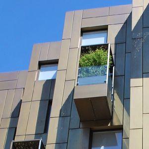 façade ventilée en aluminium / en zinc / en cuivre / en inox