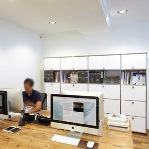 armoire de classement haute / en MDF / à tiroirs / modulaire