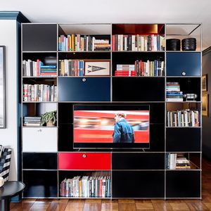 ensemble TV mural contemporain