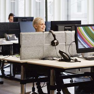 séparateur de bureau sur bureau / en polyester