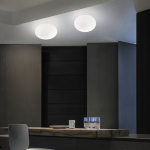 plafonnier contemporain / ovale / en verre soufflé / à LED