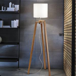lampe sur pied / contemporaine / en bois / trépied