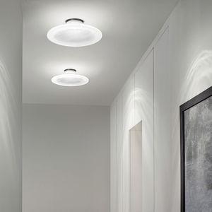 plafonnier contemporain / rond / en verre / à LED