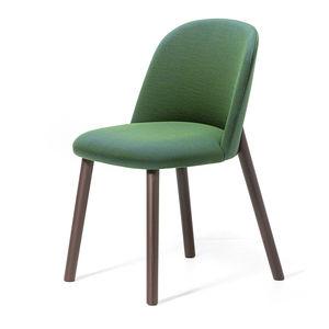 chaise de salle à manger design scandinave / tapissée / en velours / en laine