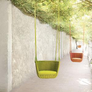 chaise suspendue contemporaine / tapissée / en acier inoxydable / d'extérieur
