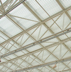 brise-soleil en aluminium / pour toiture / pour abri / horizontal