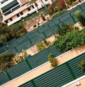 clôture de jardin / à panneaux / en aluminium / brise-vue