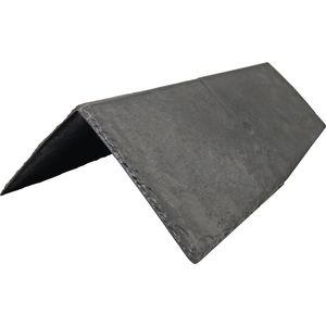 tuile faîtière / résine thermoplastique / aspect ardoise / aspect traditionnel