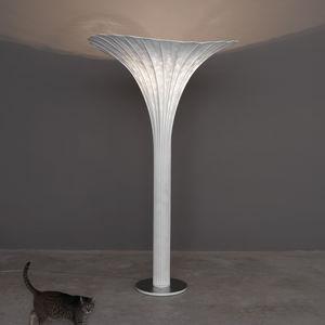 lampe sur pied / design original / en maille d'acier inox / à incandescence