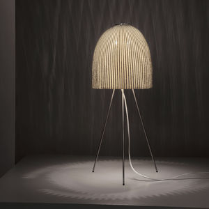 lampe de table / contemporaine / en maille d'acier inox / trépied