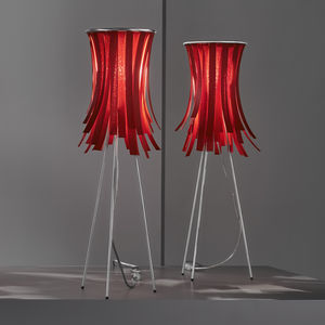 lampe de table / contemporaine / en polymère / trépied