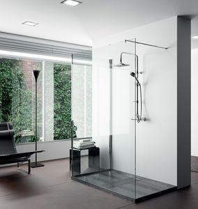 receveur de douche rectangulaire / à poser / en Dekton® / en Silestone®