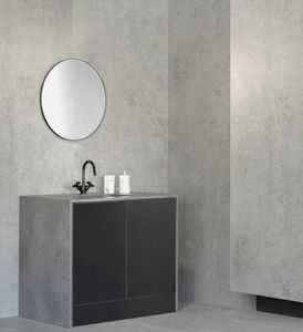 meuble vasque à poser / en Dekton® / contemporain / avec miroir