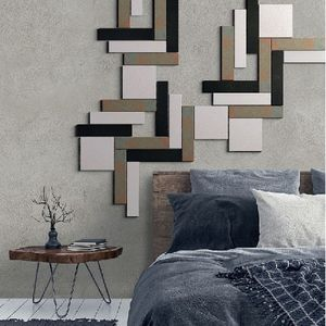 parement en terracotta / intérieur / texturé / noir