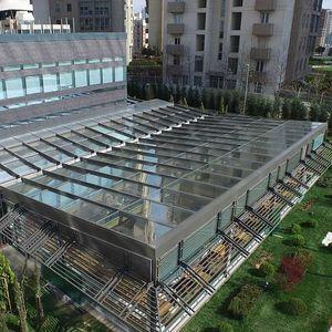 toit vitré en aluminium