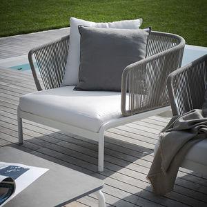 fauteuil contemporain / en tissu / en inox / en métal peint