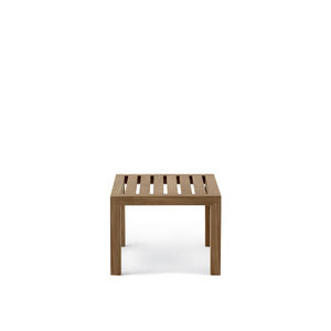 table basse contemporaine / en teck / carrée / de jardin