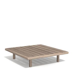 table basse contemporaine / en teck / avec piètement en teck / carrée