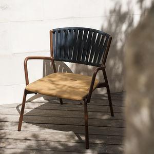 fauteuil contemporain / en acrylique / en aluminium / en teck