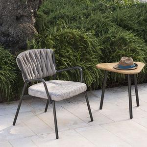 fauteuil contemporain / en textile / en teck / en aluminium