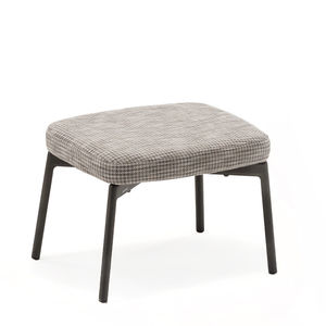 tabouret contemporain / en teck / en textile / en aluminium