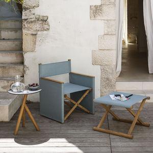 fauteuil contemporain / en tissu / en teck / pliant