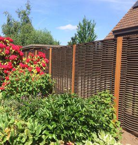 clôture à panneau