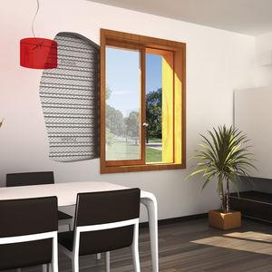 système à galandage pour fenêtre coulissante
