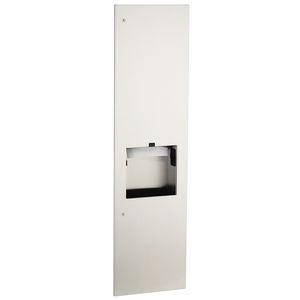 distributeur d'essuie-mains mural / encastrable / en acier inoxydable / avec poubelle intégrée